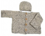 KSS Oatmeal Sweater & Hat 2 Years/2T
