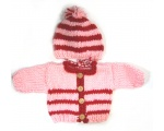 KSS Heavy Pink/Red Sweater/Jacket with a Hat (3 Months)