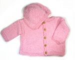 KSS Pink Knitted Sweater/Jacket & Hat Size 2 Years