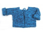 KSS Blue Colored Heavy Sweater with Ties (12 Months)