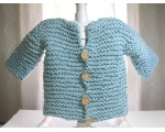 KSS Light blue Knitted Heavy Sweater/Jacket (2 Years/3T)