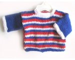 KSS Red/Blue and White Handmade Sweater (9 Months) KSS-SW-813