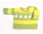 KSS Green/Yellow Colored Duck Pullover Sweater 2T KSS-SW-817-ET