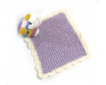 KSS Knitted Unicorn Cotton Blankie/Lovey 8x8 Inches