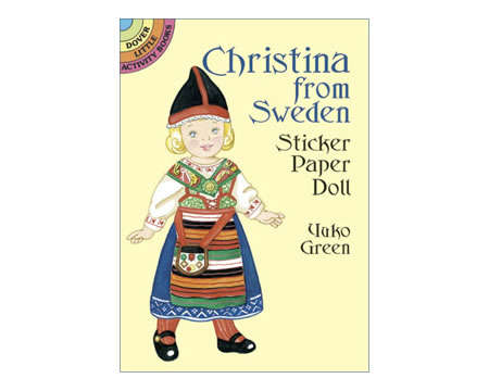 Christina from Sweden Sticker Paper Doll by Yuko Green
