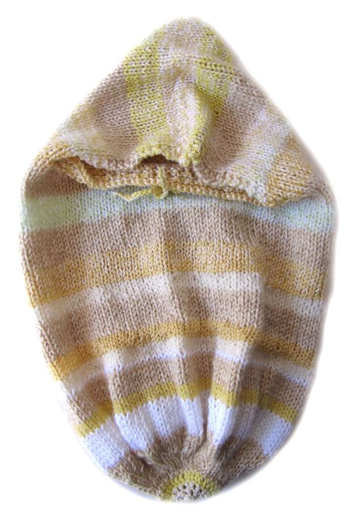 KSS Knitted Striped Cocoon 0 - 6 Months - Click Image to Close