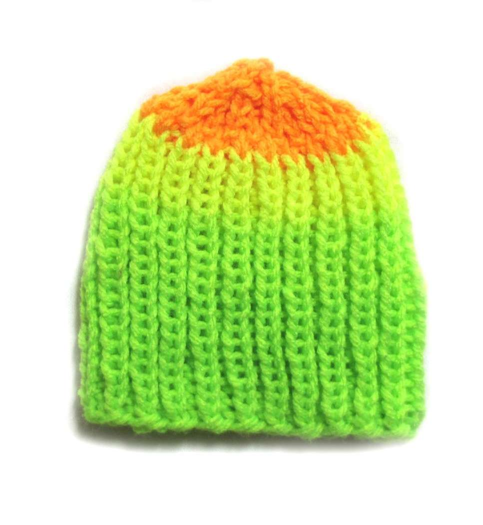 "KSS Rainbow Winter Beanie 9-11"" (Newborn) - Click Image to Close"