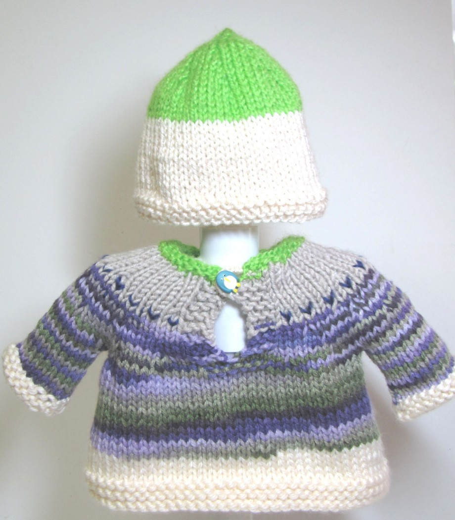KSS Colorful Pullover Sweater with a Hat (6 Months) - Click Image to Close