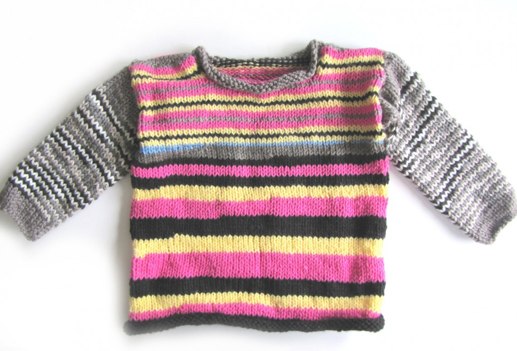 KSS Pink Grey Sky Kids Pullover Sweater (4 Years) - Click Image to Close