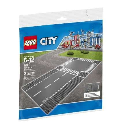 LEGO City Town Straight and Crossroad Plate 7280