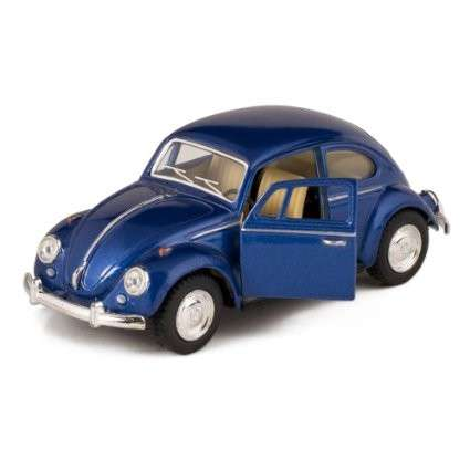 Classic Die-cast VW 1867 Beetle Blue - Click Image to Close