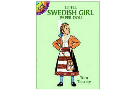 Little Swedish Girl Paper Doll by Tom Tierney