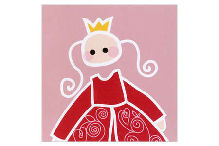 Blafre Greeting Card Princess Red