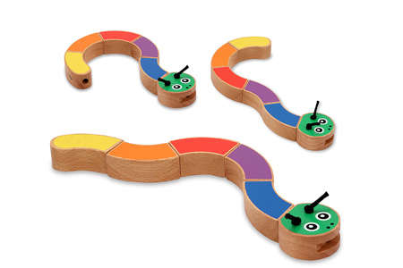 Melissa & Doug Caterpillar Wooden Grasping Toy