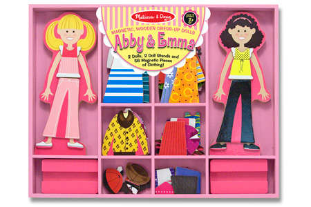 Melissa & Doug Abby & Emma Magnetic Dress-Ups