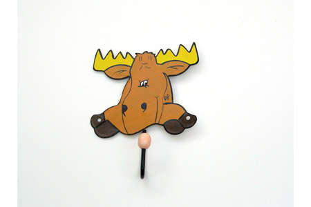 Brown Moose Elk Wall Hook