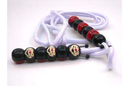 Jumprope with Handpainted Wooden Ladybugs Face