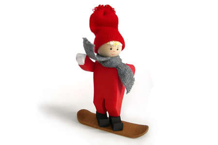 Tomte Boy on Snowboard