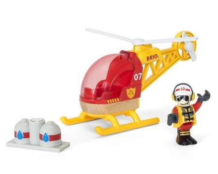 BRIO Wooden Rescue Helicopter 30337
