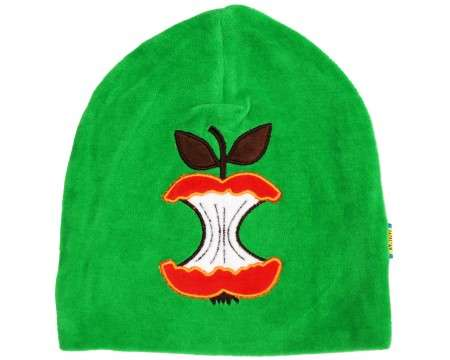 DUNS Organic Cotton Velour Apple on Green Hat