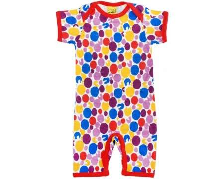 DUNS Organic Cotton Dots Onesie with Short Sleeves and Legs 1-2 Months