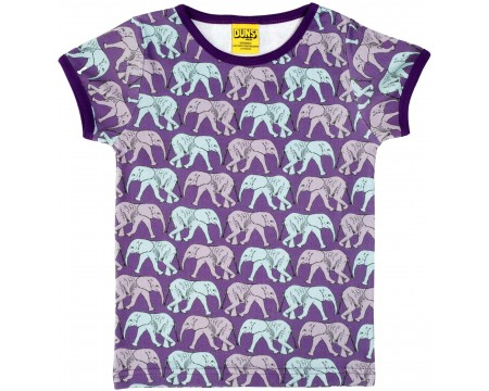 DUNS Organic Cotton Elephant Short Sleeve Top (18-24 Months)