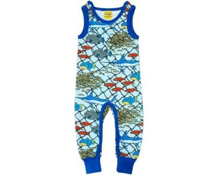 "DUNS Organic Cotton ""Escape\"" Sleeveless Dungaree 12 Months"