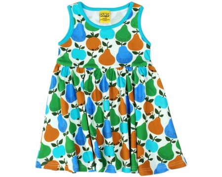 "DUNS Organic Cotton ""Fruits\"" Sleeveless Dress with Gather (74cm/9M)"