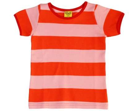 DUNS Organic Cotton Coral / Tomato Short Sleeve Top (2-3 Years)