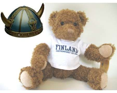 Gift Bag Bear and Helmet from Finland for Any Age