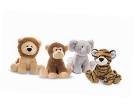 GUND Chatter Jungle Animal (Lion, Monkey, Elephant and Tiger)