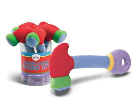 GUND Baby Crashing Hammer Sound Rattle, Red, 8.5""