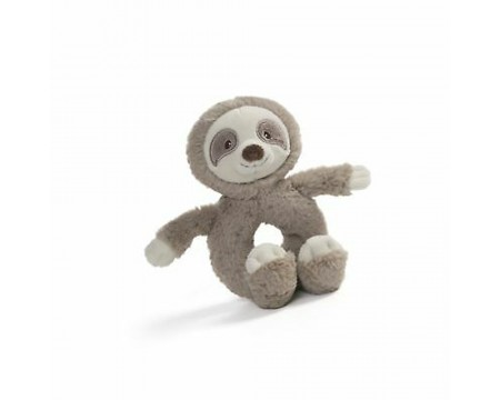 GUND Baby Toothpick Sloth Rattle, Small, Taupe 4""