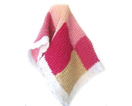 KSS Pink Squares Baby Blanket Newborn and up