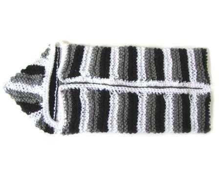 KSS Black, Grey and White Baby Cocoon Bag with Zipper
