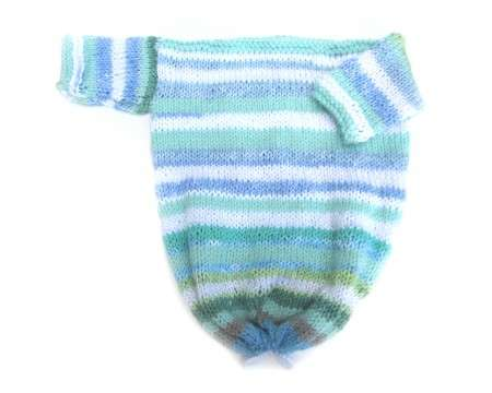 KSS Knitted Striped Baby bag in blue colors 0 - 6 Months