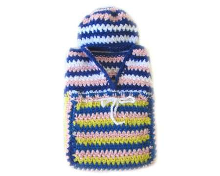 KSS Pastel Baby Cocoon with a Hat 0 - 3 Months