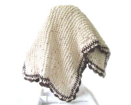 "KSS Baby Blanket in Natural Colors 32""x23\"" Newborn and up"