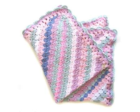 "KSS Striped Baby Cotton Blanket 25""x21\"" Newborn and up"