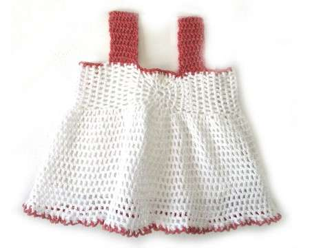 KSS White Crocheted Cotton Dress 12 Months