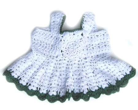 KSS White Crocheted Cotton Dress 6 Months