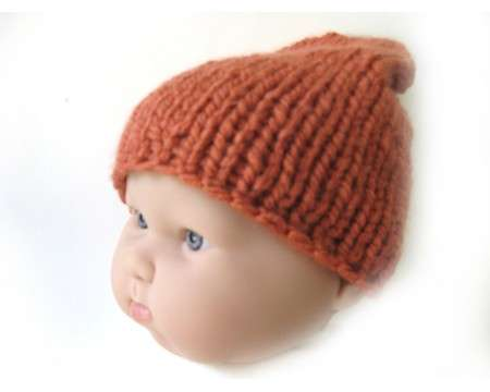 "KSS Copper Colored Soft Knitted Cap 13-16"" (3-18 Months)"