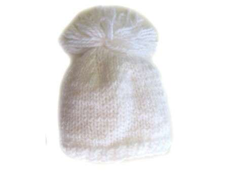 "KSS White Beanie with a Loose Tassell 16"" - 18\"" (2 - 3 Years)"