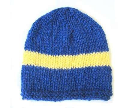 KSS Blue Beanie with Swedish Colors 14-16 inch (6-12 Months)