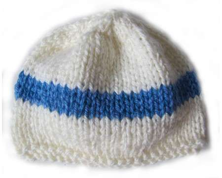 KSS White Beanie with Finnish Colors 13 - 15 inch (3-18 Months)
