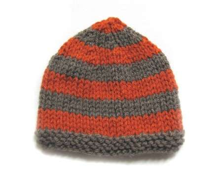 "KSS Copper/Grey Knitted Cap 13-15"" (3-12 Months)"