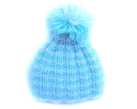 "KSS Turqoise Hat with Yarn Pom Pom 12 - 13"" (0 -12 Months)"