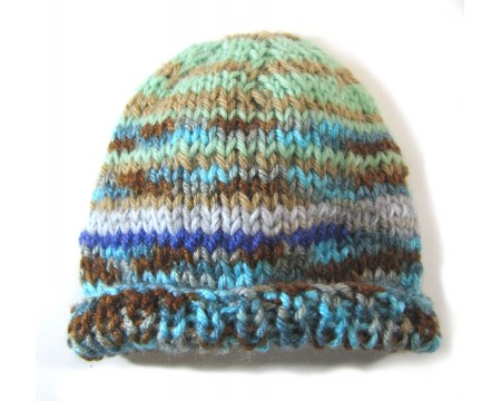 "KSS Summer Lake Striped Beanie Hat 13"" (0-3 Months)"
