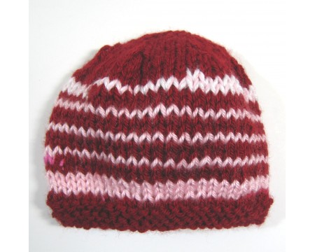 "KSS Red Candy Stripe Beanie 14"" -15\"" (0 - 1 Years)"