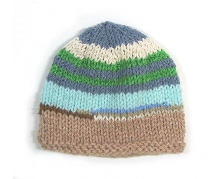 "KSS Slice of Nature Striped Beanie 13"" (0-3 Months)"